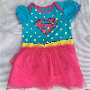 Infant Supergirl Dress Onesie 12-18 M